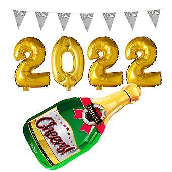 Party Kit 2022 Nieuwjaar Student Verjaardag Ballonnen en Wimpels