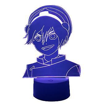 Korra Avatar 3d Lampa