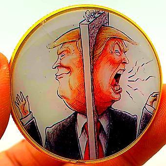 """נשיא ארה""""ב טראמפ גילף מטבע קומיקס פוטין זהב מטבע הנצחת מטבע אספן מטבעות מדליית מלאכת מטבע"""