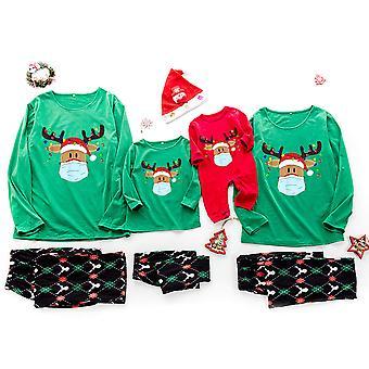 Family Matching Christmas Adults Kids Baby Elk Pyjamas Set Xmas Sleepwear Pjs