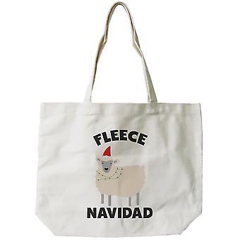 Feliz Natal Natal dom lona saco personalizado x-mas divertido velo sacola