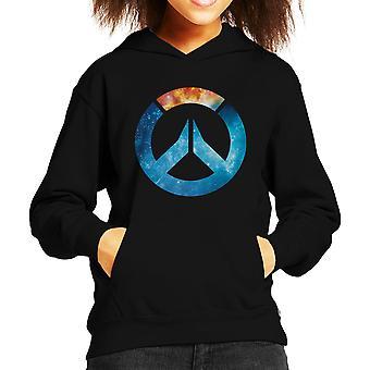 Overwatch Galaxy Silhouette Kid Sweatshirt mit Kapuze