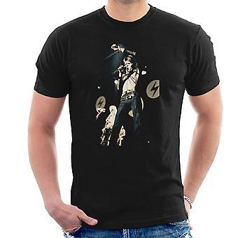 David Bowie Ziggy Stardust Lightening Hammersmith Odeon 1973 Men's T-Shirt