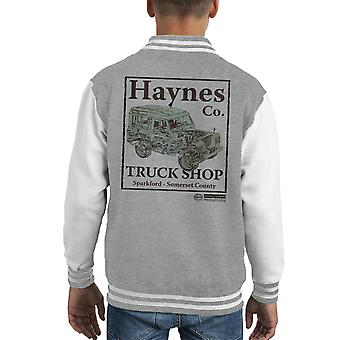 Haynes Marke Truck Shop Sparkford Land Rover Kid Varsity Jacket