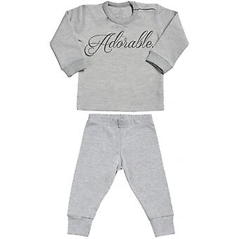 Spoilt Rotten Adorable Sweatshirt & Jersey Trousers Baby Outfit Set