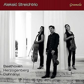 Beethoven, L.V. / Aleksic Streichtrio - Beethoven Dohanyi & Herzogenberg: String Trios [CD] USA import