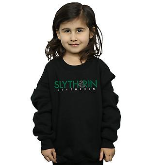 Harry Potter Girls Slytherin Text Sweatshirt
