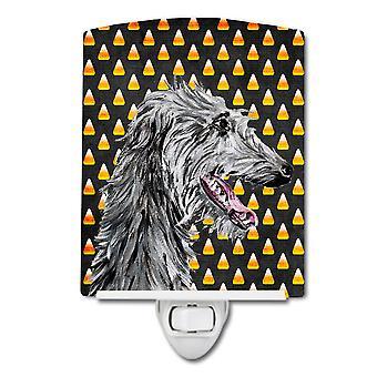 Scottish Deerhound Candy Corn Halloween Ceramic Night Light
