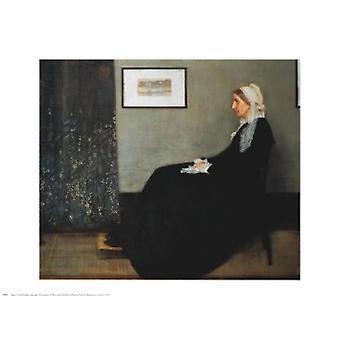 הסדר באפור ובשחור של הדפס לפוסטרים של האם מאת ג'יימס אבוט מקניל וויסלר (30 x 24)
