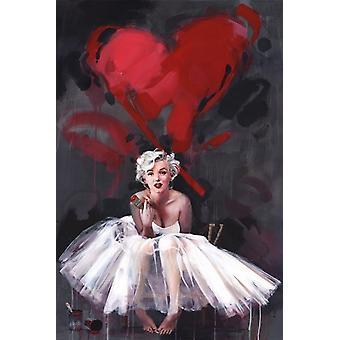 مارلين مونرو-طباعة الملصقات ملصق الطلاء
