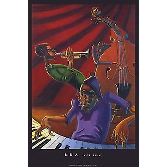 طباعة ملصق الثلاثي الجاز بجوستين بوا (24 × 36)