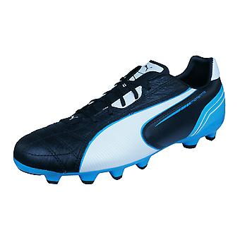 Puma Momentta MG Mens Leather Football Boots / Cleats - Black