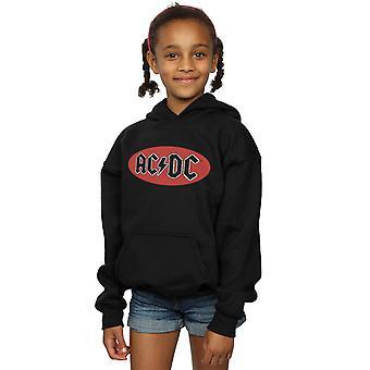 AC/DC piger rød cirkel Logo hættetrøje