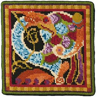 Dark Celtic Bird Needlepoint Canvas
