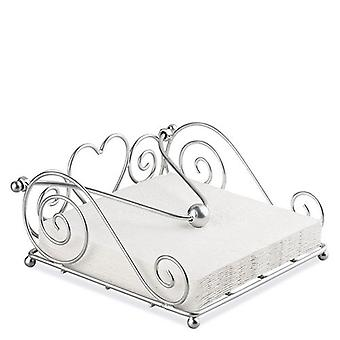 Ambiente Rustical Napkin Holder, Silver