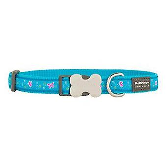 Red Dingo Dog Collar Butterfly Turquoise (Dogs , Collars, Leads and Harnesses , Collars)