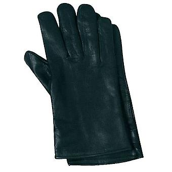 German Leather Gloves [Black, S]