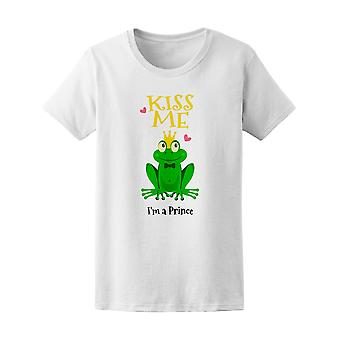Küss mich ich bin ein Prinz Frog T-Shirt Frauenhaus-Bild von Shutterstock