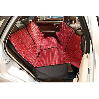 CAR DOG SCAUN ACOPERI PET IMPERMEABIL CAPAC DE PROTECȚIE HAMAC RED CHECK SBH7033