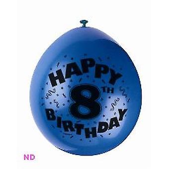 "Ballonnen '8e verjaardag' 9"" Latex ballonnen (10)"