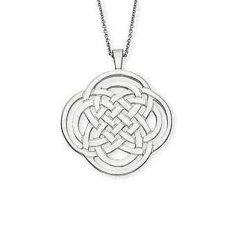 Sterling Silver Traditional Scottish Celtic Eternity Knotwork Hand Crafted Necklace Pendant - P99