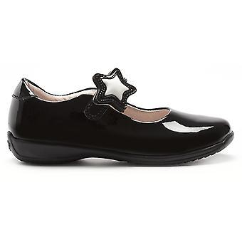 Lelli Kelly Colourissima Star LK8700 Black Patent School Shoes