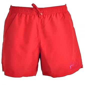 EA7 Emporio Armani Sea World Eagle Swim Shorts, Red (52)