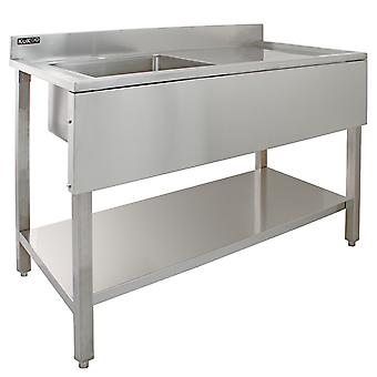 Science Lab Laboratory Sink Stainless Steel Single Bowl 1.0 Right Hand Drainer