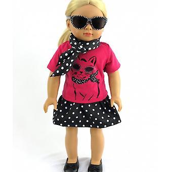 "18"" Puppe Kleidung Polka Dot Diva"