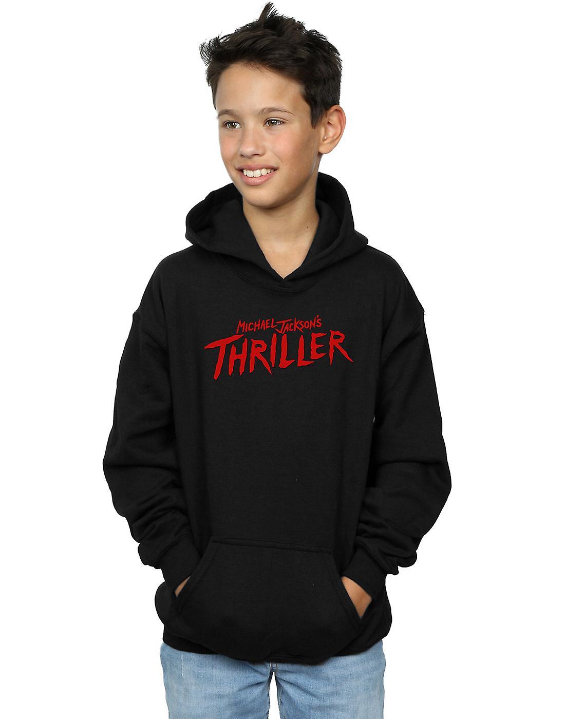Michael Jackson Boys Thriller Logo Hoodie