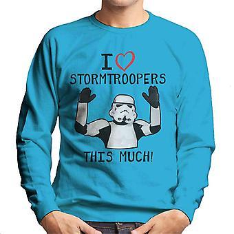 Oprindelige Stormtrooper jeg elsker Troopers dette meget mænd Sweatshirt