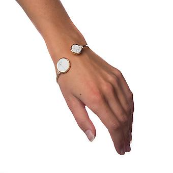 Armband wit marmer-cirkel