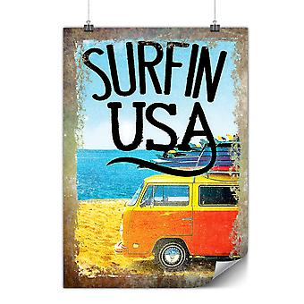 Matte or Glossy Poster with Surfin USA Poster | Wellcoda | *d2012