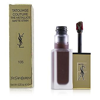 Yves Saint Laurent Tatouage Couture os Metallics - temperamento magnético ameixa # 105 - 6ml/0,2 oz