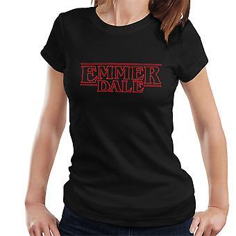 Emmerdale nieznajomy rzeczy Logo Damska koszulka