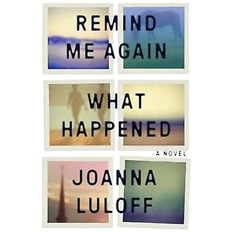 Remind Me Again What Happened by Joanna Luloff - 9781565129221 Book