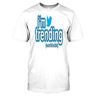 Im tendência mundial-Funny Mens camiseta