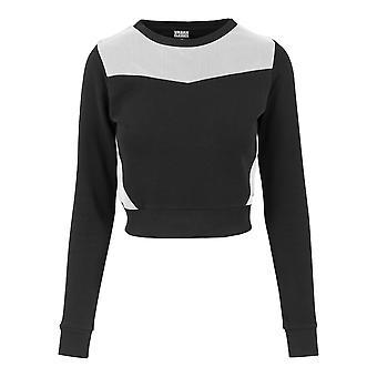 Urban classics ladies Sweatshirt cropped mesh Terry crew