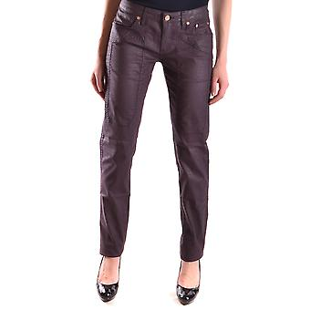 Jeckerson Ezbc069014 Women's Burgundy Cotton Jeans