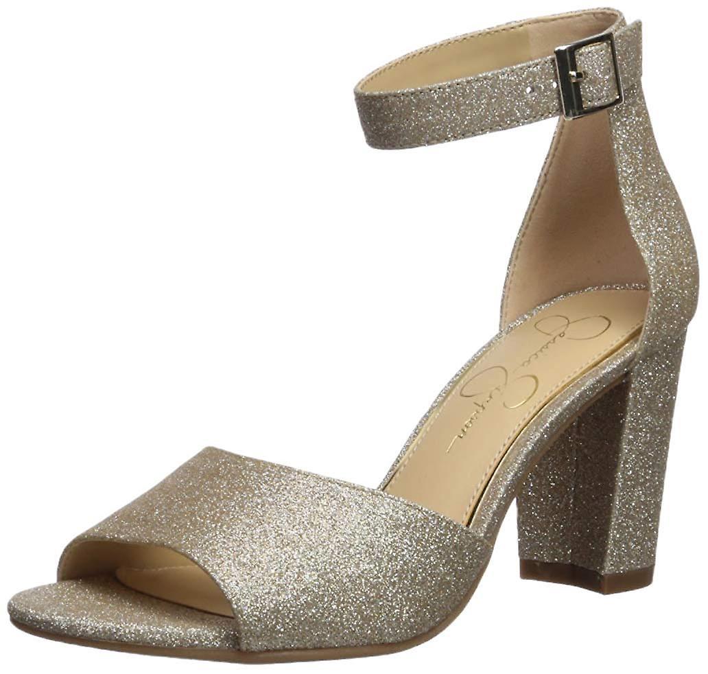Jessica Simpson damskie skórzane Sherron Open Toe dorywczo kostki Strap sandały zMSsI