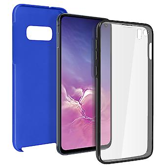 Siliconen case + back cover in polycarbonaat voor Samsung Galaxy S10e-blauw