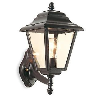 Firstlight-1 lumière extérieure 4 panneau lanterne-Uplight noir IP43-E200BK