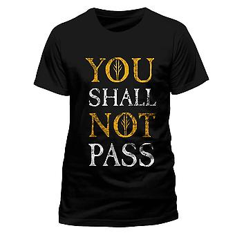 Men's The Lord of the Rings You Shall Not Pass T-Shirt
