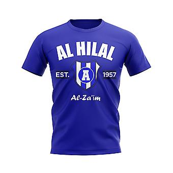 Al Hilal gevestigde voetbal T-shirt (Koninklijk)