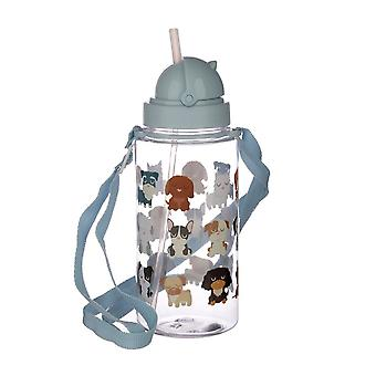 Puckator Childrens Water Bottle with Straw, Dog Squad