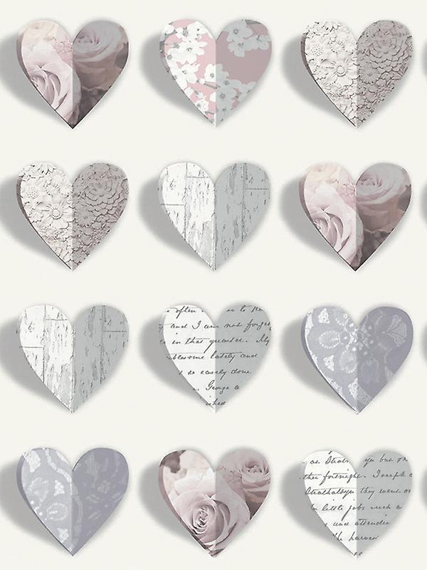 Olivia Hearts Wallpaper Blush Arthouse 669701