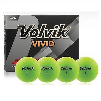 Volvik Vivid Golf ballen groen 1 dozijn