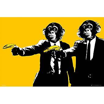 Singes bananes Maxi Poster 61x91.5cm