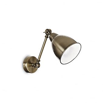 Ideal Lux Newton Wall Light Bronze