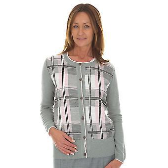 EUGEN KLEIN Eugen Klein Pink And Grey Check Cardigan 8206 92070 83